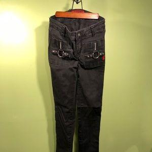 Vintage Tripp stretch skinny bondage pants